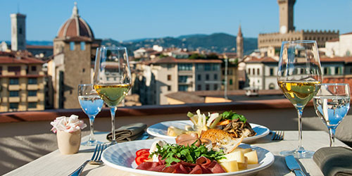Restaurant with a view of Florence